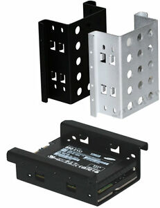 """Dual 2.5/"""" SSD//HDD to 3.5/"""" Mounting Aluminum Bracket For Desktop PC Drive Bay Kit"""