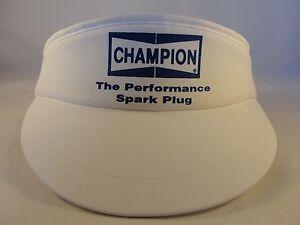 Image is loading Champion-Spark-Plug-Vintage-Adjustable-Strap-Visor-Hat- 8985ea4435d