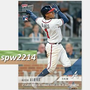 Verzamelingen 2018 Topps NOW MLB 446 Ozzie Albies 6th Player 21 Or Under Hits 20 HRs By ASG