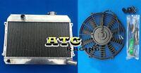 3 Row Datsun 510 521 1.6 L4 1968 1969 1970 1971 1972 73 Aluminum Radiator + Fan