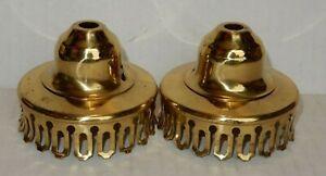 Lot-Of-2-Brass-3-034-Oil-Lamp-Chimney-Holder-Part