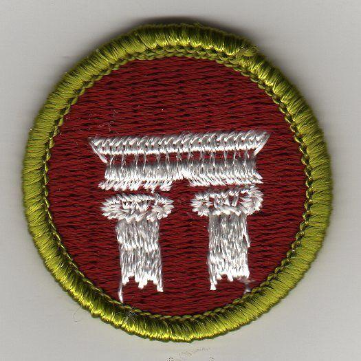 merit 1972 badge 2002 plastic mint architecture clear