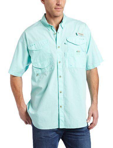 NEW Columbia  Herren Bonehead Short Sleeve Fishing Shirt Gulf Stream X Large