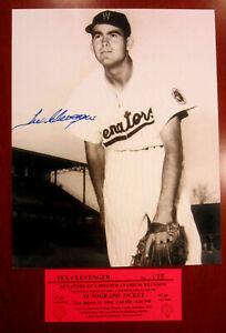 Signed-8x10-photo-Tex-Clevenger-Washington-Senators