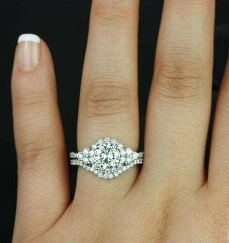 Details about  /14K White Gold Over 1.86CT Round Cut Blue Sapphire /& Diamond Cross Pendant