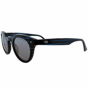 Emporio-Armani-EA-9800-YWR-Striped-Turquoise-Plastic-Round-Sunglasses-Grey-Lens