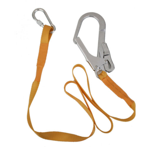 Outdoor Climbing Safety Harness Belt Lanyard With Metal Carabiner Clip 180cm