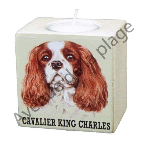 "Bougeoir chien /""Cavalier King Charles/"" bougie achat vente  idée cadeau NEUF"
