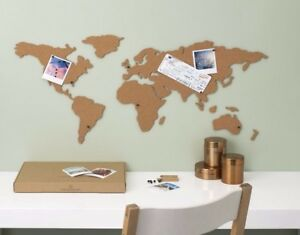 Corkboard map adhesive map of the world travel planner trip tracker image is loading corkboard map adhesive map of the world travel gumiabroncs Images
