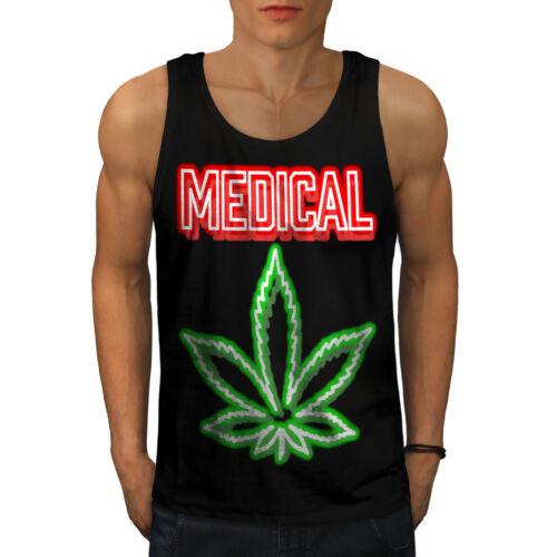 Wellcoda Medical Marijuana Rasta Mens Tank Top Smoke Active Sports Shirt
