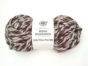 Boho-Bohemian-Yarn-By-Loops-amp-Threads-In-Black-Brown-Velvet-New-42-Yards