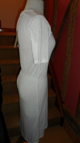 Blanc taille 12 t shirt à manches courtes robe dans un mélange coton par hurwundeki