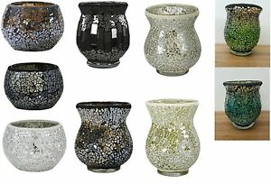 NEW-Sparkle-Mosaic-Cup-Storm-Hurricane-Tealight-Holder-Tea-Light-Candle-Holder
