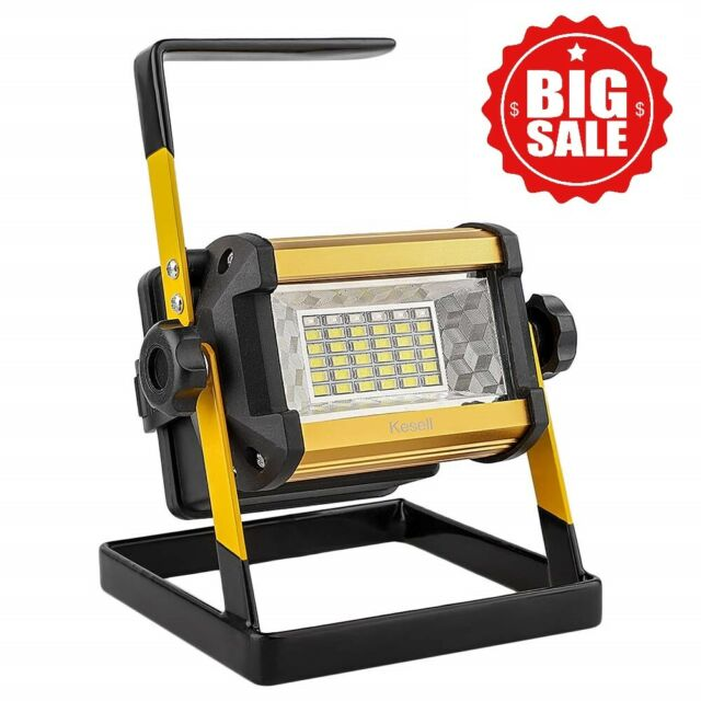 Portable Led Work Light Cordless Rechargeable Lamp Waterproof Power Bank Outdoor