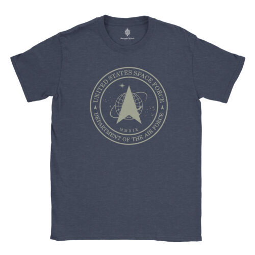Official United States Space Force Vintage Logo 100/% Cotton T-Shirt /& Decal