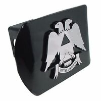 Scottish Rite All Metal Black Hitch Cover