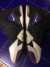 "Nike Basketball Flightposite Shoes ""Zoom Purple"" Size 13 Slightly Used"