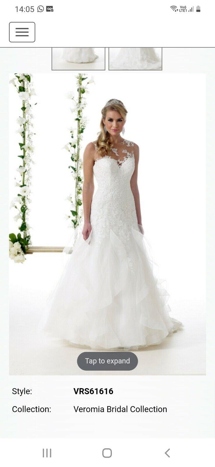 Veromia wedding dress size 12