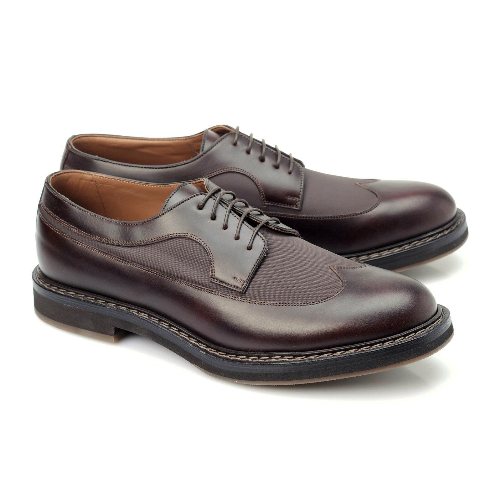 Bcourirello Cucinelli Homme 100% Cuir Marron Bout D'Aile   Chaussure US 12 EU 45