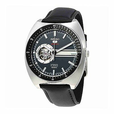 Seiko Mens Analog Casual Black Watch SSA335K1