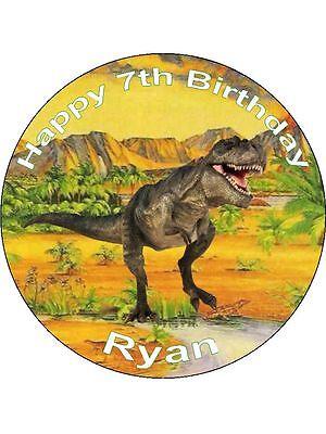 Novedad Personalizado Dinosaurio 7 5 Comestibles De Oblea De Papel Cake Topper Cumpleanos T Rex Ebay Descubrí la mejor forma de comprar online. novedad personalizado dinosaurio 7 5 comestibles de oblea de papel cake topper cumpleanos t rex ebay
