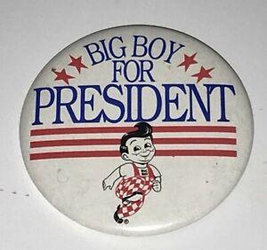 VINTAGE-Promo-Pinback-Button-BIG-BOY-For-President-Pin-1980