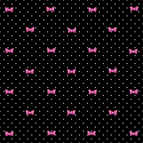 """/""""PINK MINNIE MOUSE/"""" PRINTED  FABRIC SHEET..HAIR BOWS GLITTER MIX /& MATCH"""