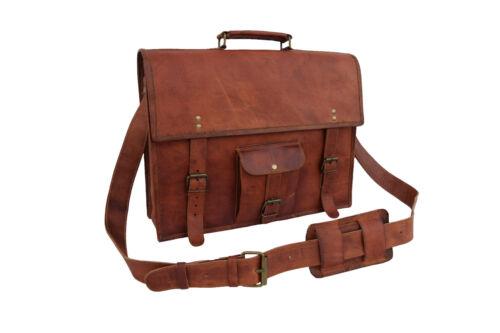 portable homme 18x13 Shoulder cuir vintage Sac pour pour à ordinateur 18x13Vintage portable à en pour bandoulière Mens Satchel ordinateur Laptop Leather bandoulière Sac Briefcase Bag Messenger 67YfgvIby