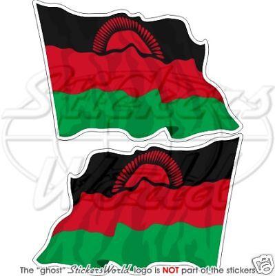 """4,7/"""" Vinyl Bumper Stickers Decals x2 MALAWI Malawian Flying Flag Africa 120mm"""