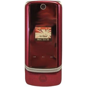 Verizon-Motorola-K1m-KRZR-Fire-Red-Mock-Dummy-Display-Toy-Cell-Phone