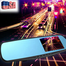 "Full HD 1080P 4.3"" LCD Video Recorder Dash Cam Rearview Mirror Car Camera DVR US"