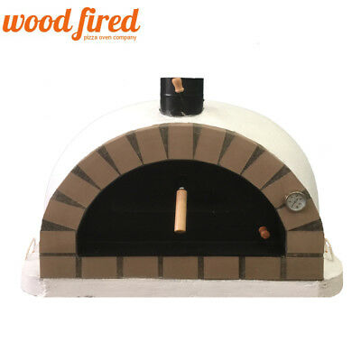 Outdoor Cooking & Eating Humble Brick Outdoor Wood Fired Pizza Oven 90cm White Pro-italian Cream Brick