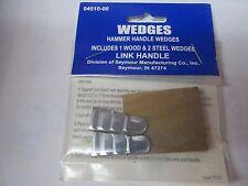 Link Handle 04510-00 Hammer Handle Wood & Steel Wedges  NEW