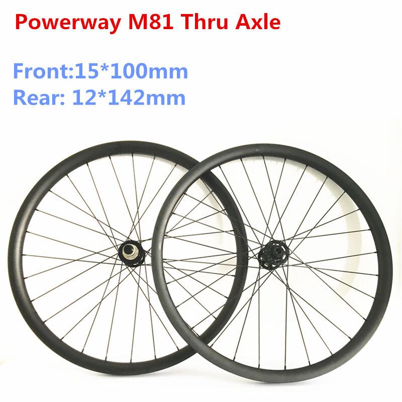 29   carbon asymmetric mtb wheelset 33 width carbon wheels 15100 12142 Sram XD  no tax