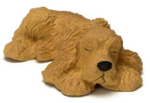 Dolls House Sleeping American Cocker Spaniel Miniature Pet Dog 1:12 Scale