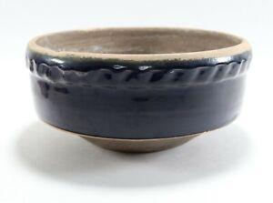 Vintage Unique Cobalt Blue Glazed Rowe Pottery Works RPW Bowl Tapered Bowl