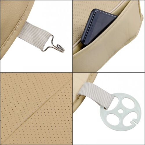 Car SUV PU Leather Front Seat Protector Deluxe 3D Whole Cushion Cover Breathable