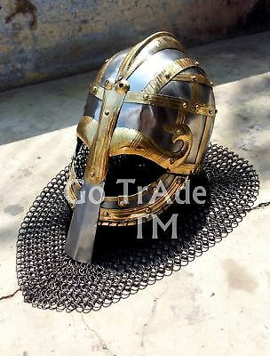 Sca Larp Viking helmet//Vendil helmet//Valsgärde 8 Helmet Chin mail armor helmet