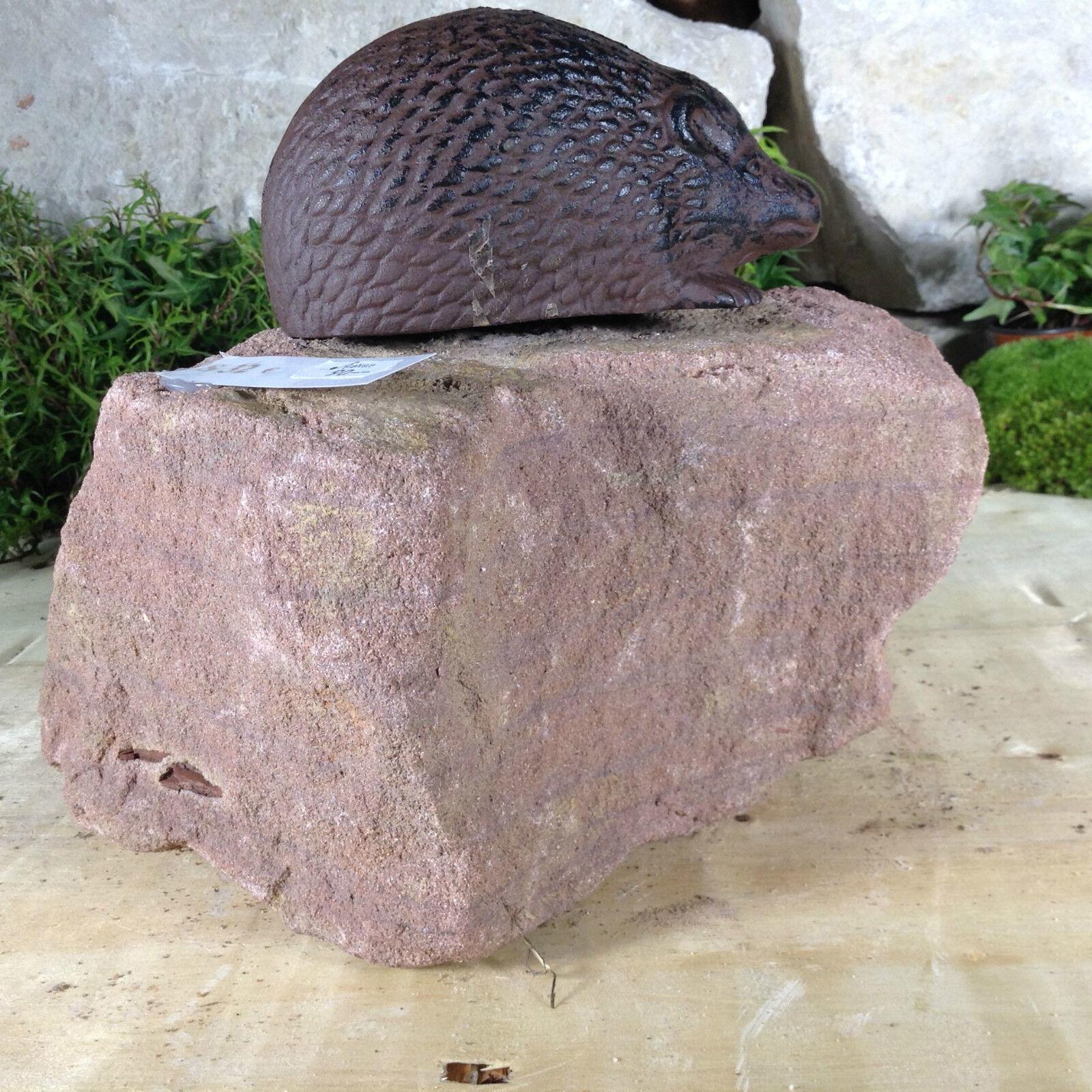 Garten Terrasse Bachlauf Bachlauf Bachlauf Naturstein Sandstein Figur Igel Hase Echse Eidechse e7a94d
