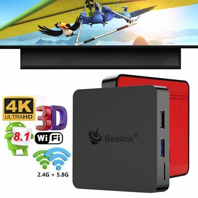 Beelink GT1 MINI Voice Remote TV Box Android 8.1 Octa Core 4K 4GB+64GB WiFi