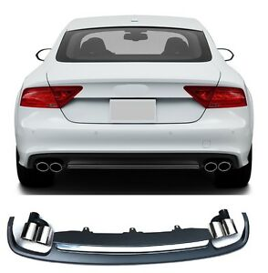 Diffuser-Fuer-Audi-A7-S7-4G-Spoiler-RS7-Grill-Platiniumgrau-Stossstange-14