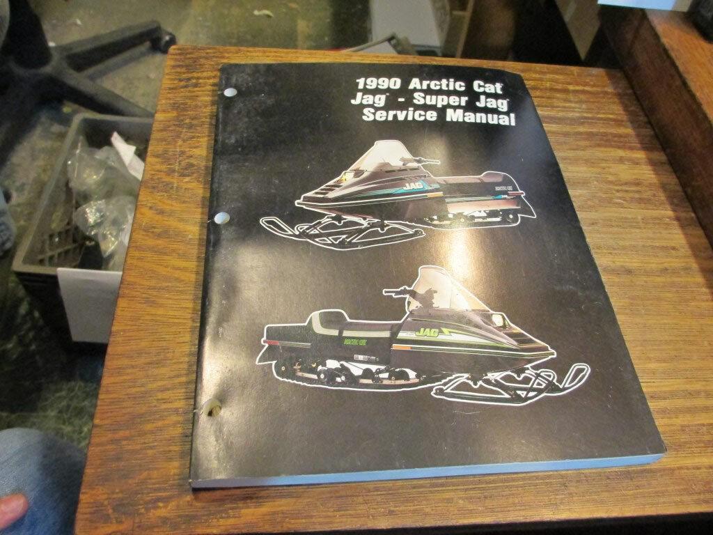 Arctic Cat Snowmobile Factory 1990 Service Manual Jag Super Jag 2254-573