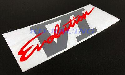 JDM MITSUBISHI LANCER EVO 6 CP9A BOOT DECAL EVOLUTION VI RED BLACK GREY  F//S