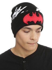 344840b9c91 DC Comics Batman Hat Red Logo Joker Hahaha Beanie Knit Hat Ski Cap ...