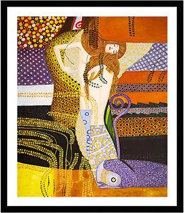 Water-Serpents-I-by-Gustav-Klimt-75cm-x-62-5cm-Framed-Black
