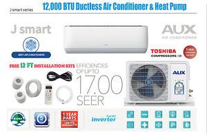 12000 BTU Ductless Air Conditioner Heat Pump Mini Split 115V w/oWIF12ft INVERTER
