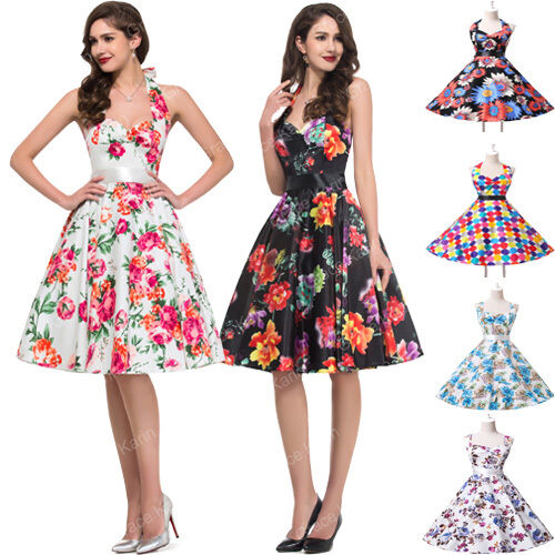 2016 Multi Style Vintage Retro Swing Party Prom Housewife 1950S Dress