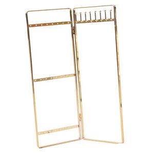 Double Panel Schmuck Display Rack hängen Ohrringe stehen Schmuck Veranstalter