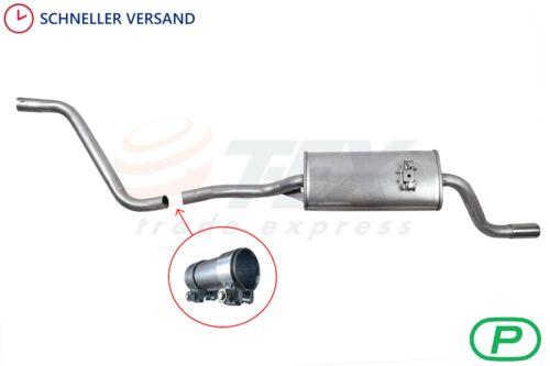 Schalldämpfer Anlage VW POLO II 86C 1.05 1.3 1.4D Auspuff