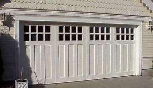 Aspen Design 9 X 7 Craftsman Solid Paint Grade Wood Garage Door W Windows Ebay